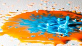 Chapoteo del color Fotografía de archivo libre de regalías