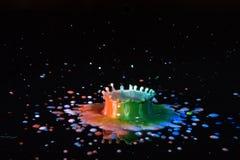 Chapoteo del color Fotos de archivo libres de regalías