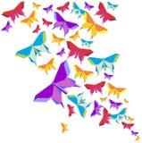 Chapoteo del color de la mariposa de la papiroflexia stock de ilustración