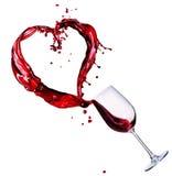 Chapoteo del extracto del vino