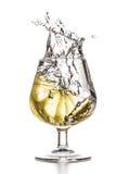 Chapoteo del limón Fotos de archivo libres de regalías