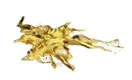 Chapoteo del oro de Liguid Foto de archivo libre de regalías