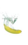 Chapoteo del plátano Foto de archivo libre de regalías