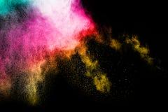 Chapoteo del polvo del color Imágenes de archivo libres de regalías