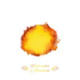 Chapoteo del vector de la acuarela en colores del otoño Foto de archivo