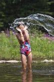 Chapoteo del verano - serie Foto de archivo libre de regalías