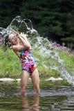 Chapoteo del verano - serie Fotos de archivo libres de regalías