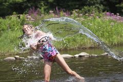Chapoteo del verano - serie Fotos de archivo