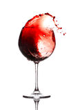 Chapoteo del vino Imagenes de archivo