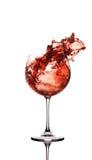 Chapoteo del vino Foto de archivo libre de regalías