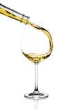 Chapoteo del vino blanco imagen de archivo libre de regalías