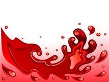 Chapoteo del vino rojo stock de ilustración