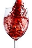 Chapoteo del vino rojo Fotografía de archivo