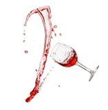 Chapoteo del vino rojo Foto de archivo libre de regalías