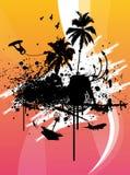Chapoteo del wakeboard de Grunge Fotografía de archivo libre de regalías
