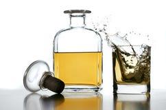 Chapoteo del whisky Fotografía de archivo