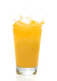 Chapoteo del zumo de naranja Imagen de archivo libre de regalías