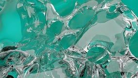 Chapoteo flúido colorido del extracto ilustración del vector