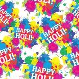 Chapoteo inconsútil de los colores del modelo del festival indio Imagen de archivo