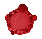Chapoteo líquido rojo Fotos de archivo libres de regalías