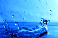 Chapoteo mojado del agua Fotografía de archivo libre de regalías