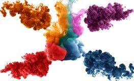 Chapoteo multicolor abstracto artístico de la pintura de la tinta en fondo del agua libre illustration