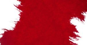 Chapoteo rojo abstracto de la salpicadura de la acuarela de la tinta de la sangre en el fondo blanco