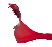 Chapoteo rojo aislado de la pintura Fotos de archivo