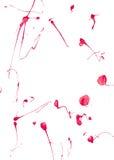 Chapoteo rojo de la pintura fotografía de archivo