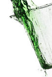 Chapoteo verde Imagen de archivo libre de regalías