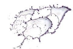 Chapoteo violeta del agua Foto de archivo libre de regalías