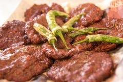 Chappal Kabab - Prętowy b Q Zdjęcia Royalty Free