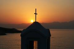 chappel немногая над заходом солнца Стоковое Изображение