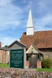 CHAPPEL ESSEX UK   Traditional village church Royalty Free Stock Image