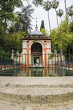 Chappel and a pond in front Stock Photography