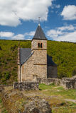 Chappel in the ruins of the medieval castle in Esch-sur-Sure Stock Photo