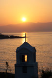 Chappel and sunup. Sunup in greece over the little chappel Royalty Free Stock Photography