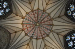 Chapter House Ceiling in York Minster Stock Image