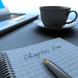 Chapter One. Written on blank notepad Royalty Free Stock Images