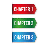 Chapter One, Two, Three vector Stock Images