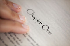 Chapter One Royalty Free Stock Photo