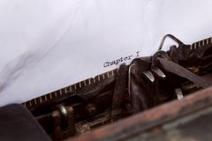 Chapter one written on a typewriter Royalty Free Stock Photography