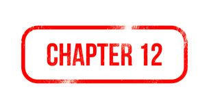 Chapter 12 - red grunge rubber, stamp.  Royalty Free Stock Image