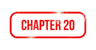 Chapter 20 - red grunge rubber, stamp.  Royalty Free Stock Images