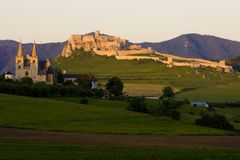 Chapter Spisska and Spissky Castle, Slovakia. Outdoor, outdoors, outside, exterior, exteriors, europe, central, republic, czechoslovakia, hrad, architecture royalty free stock images