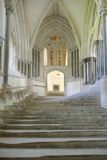 Chapter Steps. Wells Cathedral England royalty free stock photos
