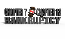 Chapter 7 vs Chapter 13 Royalty Free Stock Image