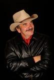 Chapéu de cowboy desgastando do homem Imagens de Stock