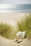 Chapéu e sandálias de Sun Foto de Stock Royalty Free
