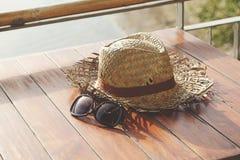 Chapéu velho do weave Imagem de Stock